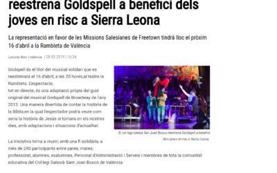 Los medios se hacen eco del Concierto Solidario Godspell