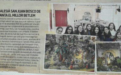 El periódico Levante publica un artículo sobre el Belén del colegio en su suplemento Aula