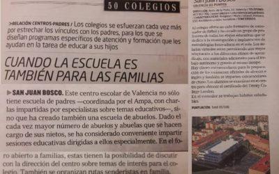 El Colegio Salesiano San Juan Bosco en la lista de los 50 mejores colegios de la Comunidad Valenciana, del diario El Mundo