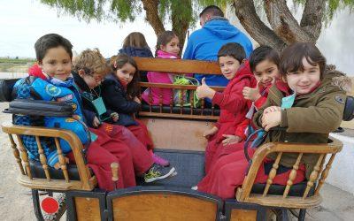 """Los niños y niñas de cinco años visitan la granja escuela """"Mas del Capellà"""""""
