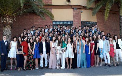 Emotiva fiesta de graduación del alumnado de segundo de Bachillerato