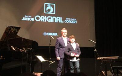 Bruno Pérez, alumno de sexto de Primaria, actúa en el Concierto Ibérico de Jóvenes Compositores 2018