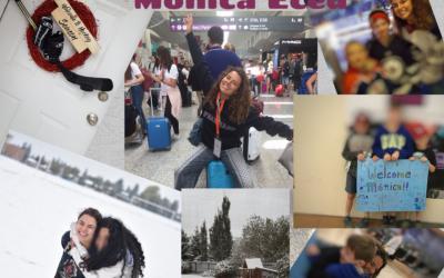 La alumna Mónica Eced disfruta de una beca para cursar este año en un colegio de Canadá