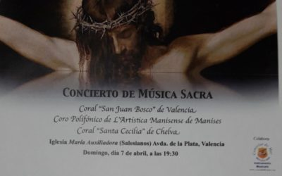 El domingo 7 de abril la Parroquia María Auxiliadora organiza un Concierto de Música Sacra